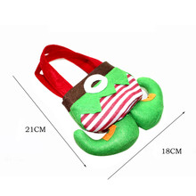 New Boot tip design Christmas Elves candy Bag Souvenir Bag Wedding Xmas gift holder handbag festival supply