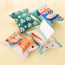 Cute animal Home&Car Cloth Tissue Box Case Holder Removable Paper Napkin Creative Home Decor Tissue Boxes Container Pouch(China)