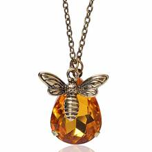 New Copper Crystal Bumble Bee Necklaces & Pendants Lovely Honey Bee Necklace Jewelry Lover Gift Graduation Gift