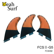 FCS2 G5 Fins Orange Fibreglass Fins Surfboard Fin FCS II Carbon Fin G5 Size In Surfing Paddle Board