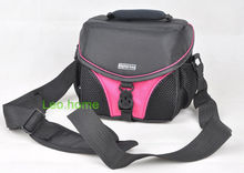 PINK video Camera bag DV case fit camera and one short lens for Samsung Fuji olympus Nikon Sony Canon JVC
