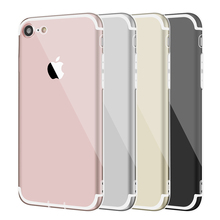 Brand Case For Iphone 7 6 6S Ultra Thin Coque Silicone Phone Bag Case 4.7 inch Transparent Dustproof Cover For Iphone 7(China)