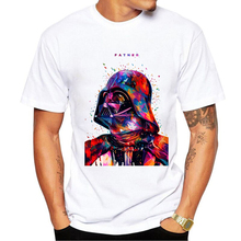 2017 New Fashion Darthworks AT AT Men T-shirt Hipster Star Wars t shirts BB8 colorful The Darth King Printed Cool tee(China)