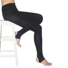 Elastic High Waist Female Stretch Pencil Pants Women Lady Winter Warm Outer Stretch Pants Stepped Foot Pants Black