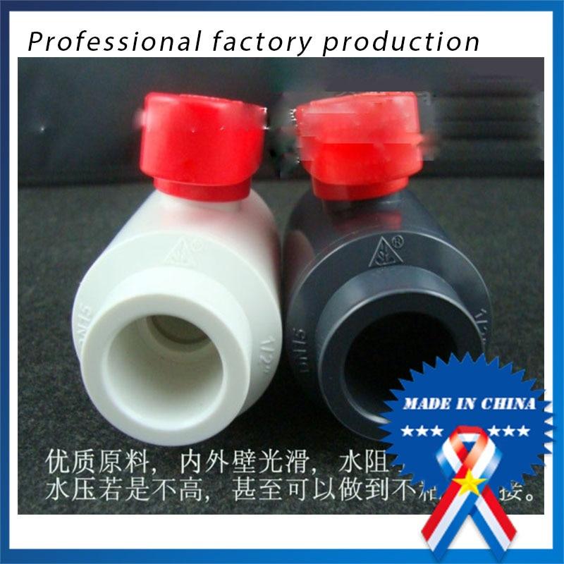 50mm PVC ball valve / plastic ball valve / water supply valve 1.5 inch DN40<br><br>Aliexpress