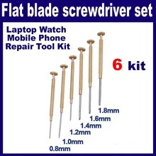 Chave De Fenda Proskit Special Offer Tools 2 Sets/lot _ 6pcs 0.8-1.8mm Screwdriver Laptop Watch Mobile Phone Repair Tool Kit