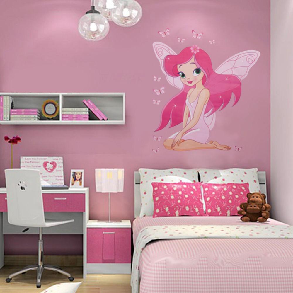 HTB1I.WJRpXXXXcEXVXXq6xXFXXXl - Cute Fairy Wall Sticker For Kids Girl Room-Free Shipping