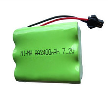 1pack 2400mah 7.2v rechargeable pack battery nimh 7.2v / aa nimh battery ni-mh 7.2v for Remote control electric toy tool boat(China)
