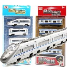 Magnetic Metal Pull back Metrol Subway Trains Diecast Toy Vehicle Models