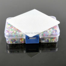 3mm Mixed colors Hama Perler Fuse Beads (3200Beads+1 small Square Pegboard +1 Tweezer + 1 Iron Paper ) Jigsaw Puzzle
