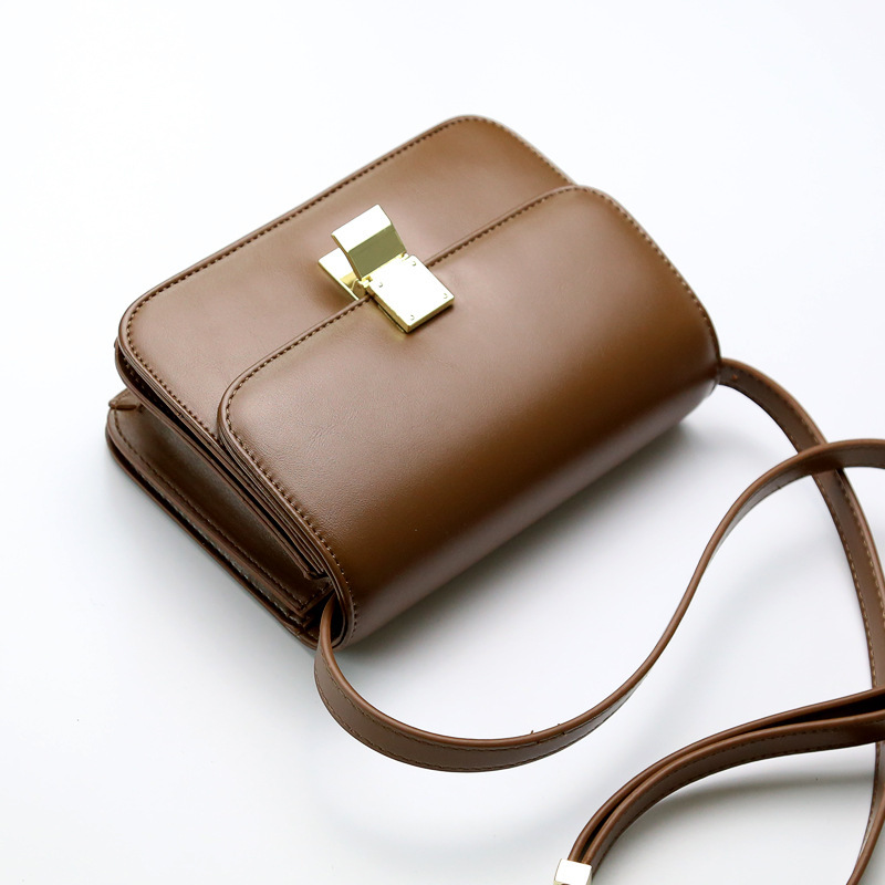 LUYO Candy Color Vintage Box Small Women Messenger Crossbody Bags For Flap Purses And Designer Handbags High Quality Leather<br>