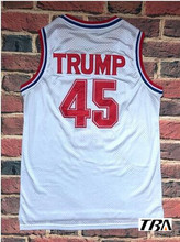 Buy NEW Mens Cheap Throwback Basketball Jerseys,#45 USA Donald Trump 2017 Commemorative Edition White Color Basketball Jersey for $17.98 in AliExpress store