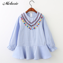 Melario Girls Dress 2017 Summer Style Children Clothes Striped Robe Fille Ruffles Full Petal Kids Princess dress Girls Dresses