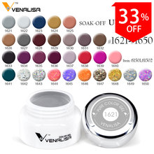 61501#Venalisa Paninting Gel soak off UV LED 5ml Pure Gel Canni Supply Gel varnish for Nail Art Design glitter gel nail polish(China)