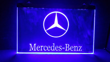Benz car 2 size beer bar pub club 3d signs led neon light sign man cave(China)