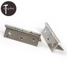 New 2PCS 3 Inch Stainless Steel Door Window Bearing Hinge Flat Open Loose Thickened Fold Gate Hinge Brushed