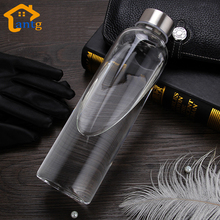 Glass Water Bottle with protective bag 280ml,360ml,550ml Drinking healthy glass teapot sports travel bottles