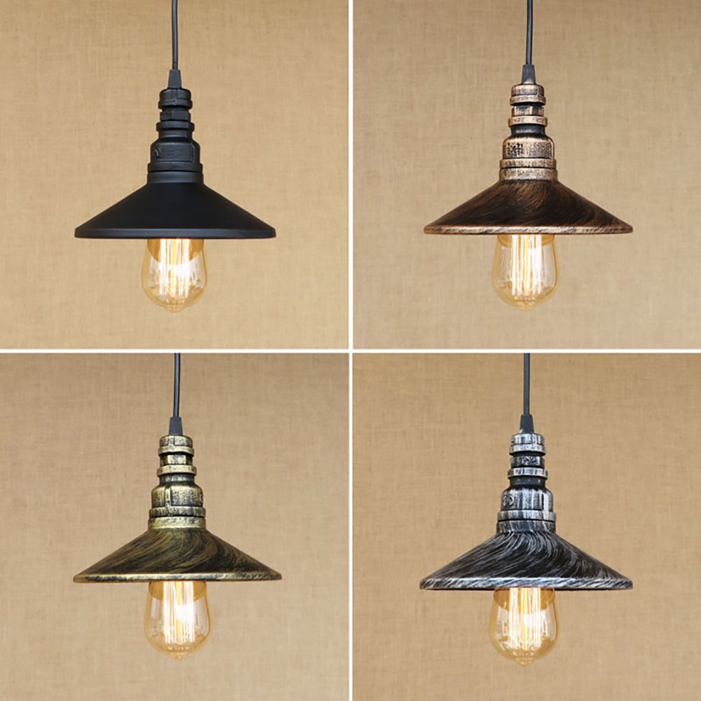 4 color Loft industrial Iron water Pipe Vintage pendant lamp cord e27 antique rust lights for personalized cafe bar dining room<br>