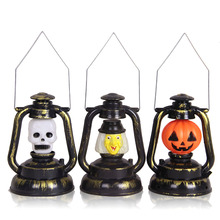 Halloween Pumpkin Ghost Night Light Prop Witch Horrible Voice Decor Battery New Halloween Party Decorations