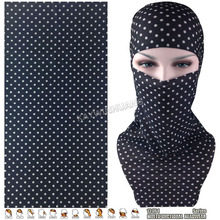 EXPRESS SHIPPING 100pcs/lot (Mix Model OK) Popular Polka Dots Elastic Microfiber Tube Multifunctional Headwear Outdoor Bandana