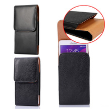 "Buy Luxury PU Leather Men Waist Bag Clip Belt Pouch Mobile Phone Holster Case Cover HOMTOM HT3 PRO 5""inch Universal cases for $5.59 in AliExpress store"