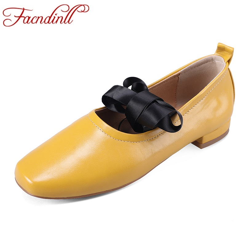 FACNDINLL soft leather oxford shoes for women fashion square toe casual nurse shoes autumn flat lace-up women loafers shoes lady<br>