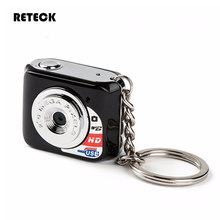 Free Shipping Video Resolution 640*480 Portable Metal Keychain Pocket Travel Mini Digital Camera Support SD Card 32 GB