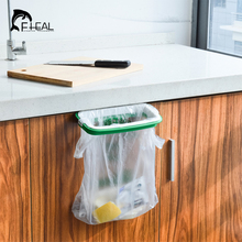 FHEAL 2017 New Hanging Kitchen Garbage Bags Rack Storage Holders Practical Cupboard Cabinet Tailgate Stand(China)
