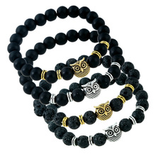 Buy NEW Leopard Tiger Eye Lion Head Bracelet Owl Buddha beads Bracelets Bangles Charm Natural Stone Bracelet yoga Jewelry Men Women for $1.39 in AliExpress store