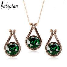 Iutopian Brand Vintage Unique Jewelry Set Geometric Style Top Quality Gift For Lover Whoesale Dropship #RG043S