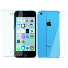 3pcs Front Back anti dust clear protective screen film guard cover for Apple iPhone 5C(China)