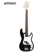 ammoon Solid Wood Electric Bass Guitar PB Style Basswood Body Rosewood Fingerboard with Gig Bag Strap Cable Pickups(China)