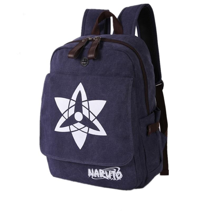 Hot Anime NARUTO Sharingan Cosplay Printing Washed Canvas Backpack School Bags Fashion Laptop Back Pack Mochila Feminina<br>