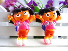 Dora the Explorer Figurine Flat Back Resin DIY Holiday Wedding Decoration Craft Scrapbooking Headwear Hair Accessories(China)