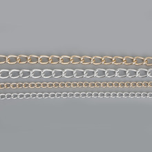 Hot Selling Aluminum Chain Plated Silver/Light Gold, For fashion Necklaces Bracelet DIY Jewelry Findings & Craft Making(China)