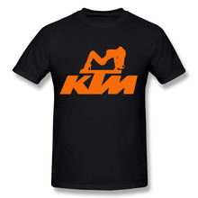 2017 Men's KTM Logo New Fashion Brand Custom Print Slim Fit T Shirt O Neck Top Quality COTTON Tops Tees