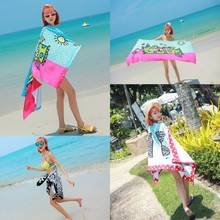 Quick Dry 70x150cm Printed Beach Towel Summer Vacation Seaside Shawl Bath Towel Cooling Swimming Towel for Beach