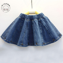 2017 summer spring new style baby girls denim skirt children Jean skirt cute infant child kids Rivet skirts(China)