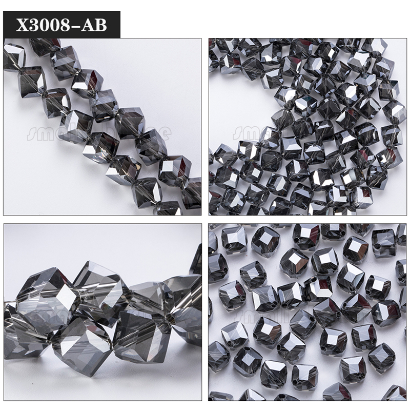 Square Glass Beads (9)