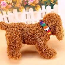 Pet Dog Collar Designer Collar Leather Plain Collar For Big Small Dog Cat Colorful Rainbow Dog Collar