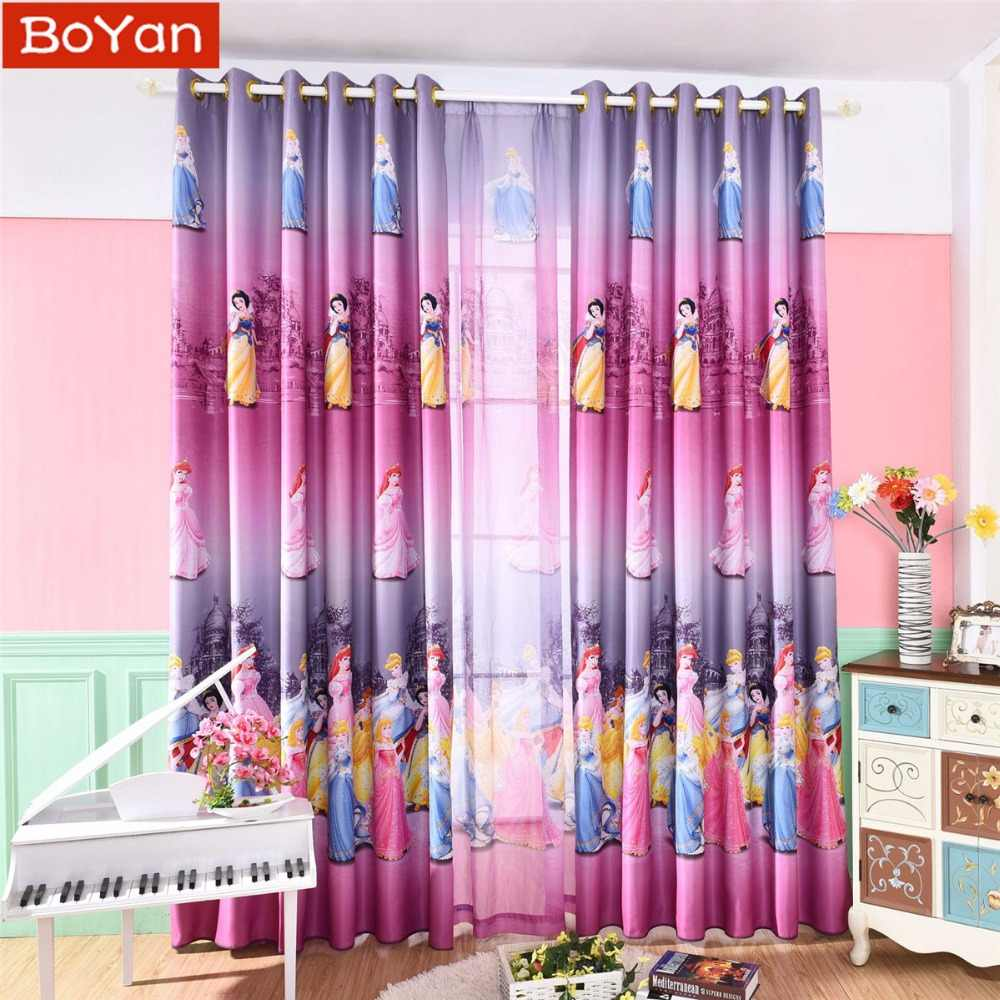 Latest Korean Pink Color Dream Princess Design Cartoon Curtains For Kids Girls Living Room Bedroom Shade Cortina Customized Size