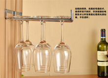 Home Modern Hanging Wine Glass Rack Glass Rack Wall Suction Stainless Steel Wine Glass Hanging Rack Shelf