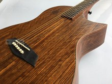 full hickory wood hand-made acoustic electric guitar(China)