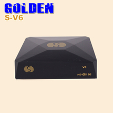 [DHL FREE]S V6 S-V6 HD Satellite TV Receiver Support Card Sharing CCcam NEWcam MGcam Biss Key DVB-S2 Receiver USB WiFi WebTV S2(China)