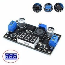 TENSTAR ROBOT LM2596 BUCK 3A DC-DC Voltage Adjustable Step-Down Power Module + Blue LED Voltmeter