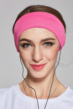 Sleep Headphones Used As Sleep Mask- Comfortable for Sleep,Travel,  Sports, Meditation and Relief From Insomnia (Lycra, Pink)
