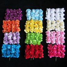 mixed mulberry paper flowers / Artificial paper flowers for scrapbooking / Free Shipping