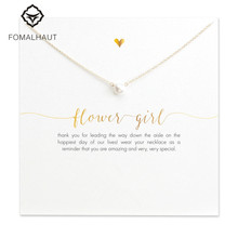 Buy imitation pearl FLOWER GIRL Pendant Necklaces Clavicle Chains necklace Fashion Chain Necklace Women FOMALHAUT Jewelry for $1.11 in AliExpress store