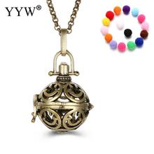 YYW Face Pattern Round Perfume Aromatherapy Pendant Essential Oil Diffuser Pregnant Ball Locket Cage Pendant Women's Gift