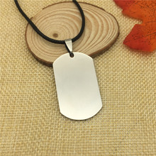 Trendy Dog Tag Stainless Steel Pendant Necklace Men Necklace jewelery Rope Chain Necklace Fashion Accessories(China)